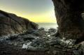wet rocks inlet west coast isle man hdri image british beaches coastal coastline shoreline uk environmental sea beach dreamy manx england english great britain united kingdom