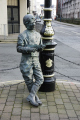 george formby bronze statue leaning lampost douglas isle man celebrities celebrity fame famous star people persons tt races film 30s manx england english great britain united kingdom british