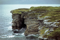 isle skye prince charles cave south elgol uk coastline coastal environmental scotland scottish sea cliffs suidhe biorach seagulls gannets eilean sgitheanach highlands islands scotch scots escocia schottland great britain united kingdom british