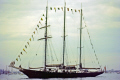 sailing ship sir winston churchill anchored solent recovery mary rose september 1982 underwater marine diving isle wight portsmouth harbour tall ships pompey hampshire hamps england english great britain united kingdom british