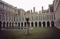 hampton court palace late winter afternoon royal palaces royalty stately homes british architecture architectural buildings uk henry eighth tudor viii cardinal wolsey oliver cromwell surrey england english great britain united kingdom