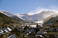 town mont dore blown snow puy sancy french landscapes european massif central mountains volcans auvergne parc regional naturel tache capucin ferrand monts winter spindrift france la francia frankreich