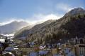 town mont dore blown snow puy sancy french landscapes european massif central mountains volcans auvergne parc regional naturel tache capucin ferrand monts winter spindrift france la francia frankreich