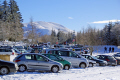 car park lac guéry january afternoon french landscapes european travel snowy volcans auvergne parc regional naturel monts-dore monts dore montsdore winter sanadoire tuiliere tuilière mountains france la francia frankreich europe