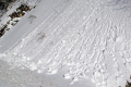 unstable snow steep slope natural history nature misc. winter snowball avalanch mountains snowy auvergne france la francia frankreich europe european french