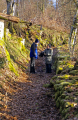 mossy path limousin french landscapes european travel correze ancient winter walkers hikers hiking bridal foot corrèze france la francia frankreich europe