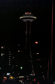 seattle space needle night american yankee travel tower restaurant washington state iconic landmark structure downtown lit usa united states america