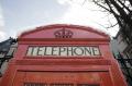 red telephone box snow roof famous sights london capital england english uk phone city cockney great britain united kingdom british