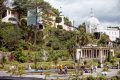 village gardens portmeirion portmerion british architecture architectural buildings uk collonade pantheon dome italianate clough williams-ellis williams ellis williamsellis ornamental prisoner number gwynedd wales welsh país gales great britain united kingdom