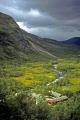 nowergian landscape taken train bergen myrdal. wilderness natural history nature misc. clouds meteorology showery cumulus norwegian hardangerfjorden norge norway kongeriket europe european norwegan