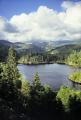 lake singelstadvatnet island tysnesøy norway. wilderness natural history nature misc. hardangerfjorden norwegian norge bergen cumulus showers meteorology norway kongeriket europe european norwegan
