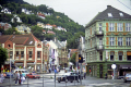 bergen norway. buildings harbour. european travel city bryggen vetrlidsallmenningen shops shopping norge harbour port norwegian norway kongeriket europe norwegan