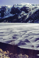 ice-covered ice covered icecovered austrumdalsvatnet fjord norway wilderness natural history nature misc. valley lake norwegian winter refrozen plates norge snow mountains kongeriket europe european norwegan