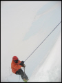 jumaring icecliff blizzard polar natural history nature misc. mountaineering climbing antarctica united kingdom british
