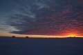 sunset brunt iceshelf antarctica polar natural history nature misc. altocumulus icecap exploration united kingdom british