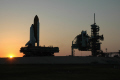 early morning shot space shuttle discovery rolling launch pad florida american yankee travel rollout ksc centre srb sts-119 sts 119 sts119 nasa cape kennedy canaveral usa united states america