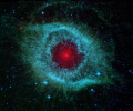 infra-red infra red infrared view helix nebula spitzer space telescope science misc. sst nasa cosmology astronomy planetary nova ngc 7293 aquarius usa united states america american