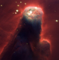 hubble image cone nebula. huge pillar gas dust constellation monoceros. space science misc. hst ngc 2264 nasa gaseous nebulosity cosmology astronomy usa united states america american