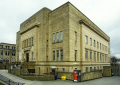 huddersfield library art gallery building centre town uk libraries british architecture architectural buildings 1930s iconic simple stone large yorkshire england english great britain united kingdom