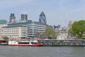 city london skyline river thames famous sights capital england english uk embankment gherkin natwest tower norman foster cockney great britain united kingdom british