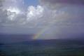 sudden shower rainbow bristol channel sky natural history nature misc. cloudburst squall spectrum weather meteorology sunshine rain devon devonian england english great britain united kingdom british