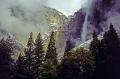 yosemite valley rain. wilderness natural history nature misc. california john muir np national park merced river cloud mist cascade waterfall californian usa united states america american