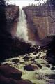 yosemite national park california. 594 ft nevada falls. wilderness natural history nature misc. california john muir np merced river cloud mist cascade waterfall californian usa united states america american