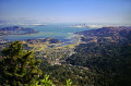 view mt tamalpais marin county looking south san francisco bay bridge. wilderness natural history nature misc. peninsula headlands california californian usa united states america american
