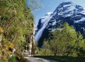 snow lavine loen valley norway. travel fjord norway kongeriket norge europe european norwegan