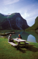 loen lake near stryn norway. travel fjord norway kongeriket norge europe european norwegan