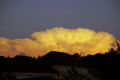 cumulo-nimbus cumulo nimbus cumulonimbus anvil massif central france lit setting sun. taken monédières 90km west. clouds sky natural history nature misc. meteorology thunder-cloud thunder cloud thundercloud thunder-head thunder head thunderhead thunder cell lightning cloud-burst cloud burst cloudburst rain downpour sunset twilight evening correze limousin la francia frankreich europe european fren