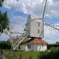 thorpeness windmill suffolk historical uk buildings history british architecture architectural aldringham syleham corn water house clouds tower fantail east anglia england english great britain united kingdom