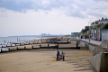 pleasant seaside resort southwold suffolk sizewell nuclear power station distance british beaches coastal coastline shoreline uk environmental beach holiday foreshore sandy waveney colourful east anglia england english great britain united kingdom