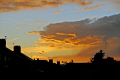 dramatic sunset thunder showers clouds sky natural history nature misc. evening twilight weather meteorology red-sky red sky redsky derbyshire england english great britain united kingdom british