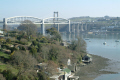 tamar rail bridge road saltash uk bridges rivers waterways countryside rural environmental cornwall cornish england english great britain united kingdom british