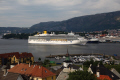 cruise liner costa luminosa visiting bergen norway travel fjord kongeriket norge europe european norwegan