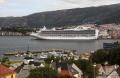 cruise liner crown princess visiting bergen norway. travel fjord norway kongeriket norge europe european norwegan