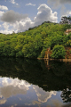 dordogne reflections argentat southern limousin french landscapes european travel correze river wooded valley clouds france la francia frankreich europe