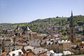 town tulle southern limousin. french landscapes european travel correze river valley medieval mediaeval chateau limousin france la francia frankreich europe