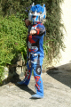 child playing transformer outfits costumes costumed superhero united kingdom british