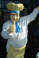 chef life size figurine caricature hastings sussex home counties england english angleterre inghilterra inglaterra united kingdom british