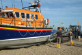 launching hastings lifeboat sequence lift trailer rnli coastguard rescue uk emergency services sussex home counties england english angleterre inghilterra inglaterra united kingdom british