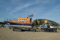 launching hastings lifeboat sequence tractor drive beach rnli coastguard rescue uk emergency services sussex home counties england english angleterre inghilterra inglaterra united kingdom british