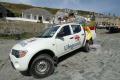 lifeguards vehicle. mullion harbour day rnli coastguard lifeboat rescue uk emergency services lizard cornwall cornish england english angleterre inghilterra inglaterra united kingdom british