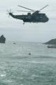 helicopter air sea rescue rescuer secures victim rnli coastguard lifeboat uk emergency services lizard cornwall cornish england english angleterre inghilterra inglaterra united kingdom british