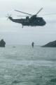 helicopter air sea rescue rescuer victim winched rnli coastguard lifeboat uk emergency services lizard cornwall cornish england english angleterre inghilterra inglaterra united kingdom british