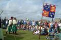 demonstration tudor clothing english flag historical britain history science falmouth cornwall cornish england angleterre inghilterra inglaterra united kingdom british
