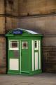 police communications box situated town hall sheffield south yorkshire england uk cops emergency services restored original wooden city centre english angleterre inghilterra inglaterra great britain united kingdom british grande-bretagne grande bretagne grandebretagne großbritannien gran bretagna bretaña