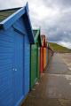 row brightly painted beach huts whitby promenade unusual british buildings strange wierd uk seaside resort holiday yorkshire england english angleterre inghilterra inglaterra great britain united kingdom grande-bretagne grande bretagne grandebretagne großbritannien gran bretagna bretaña