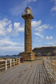 disused light towers whitby harbour harbor uk coastline coastal environmental warning lighthouse pier seaside resort tower yorkshire england english angleterre inghilterra inglaterra great britain united kingdom british grande-bretagne grande bretagne grandebretagne großbritannien gran bretagna bretaña